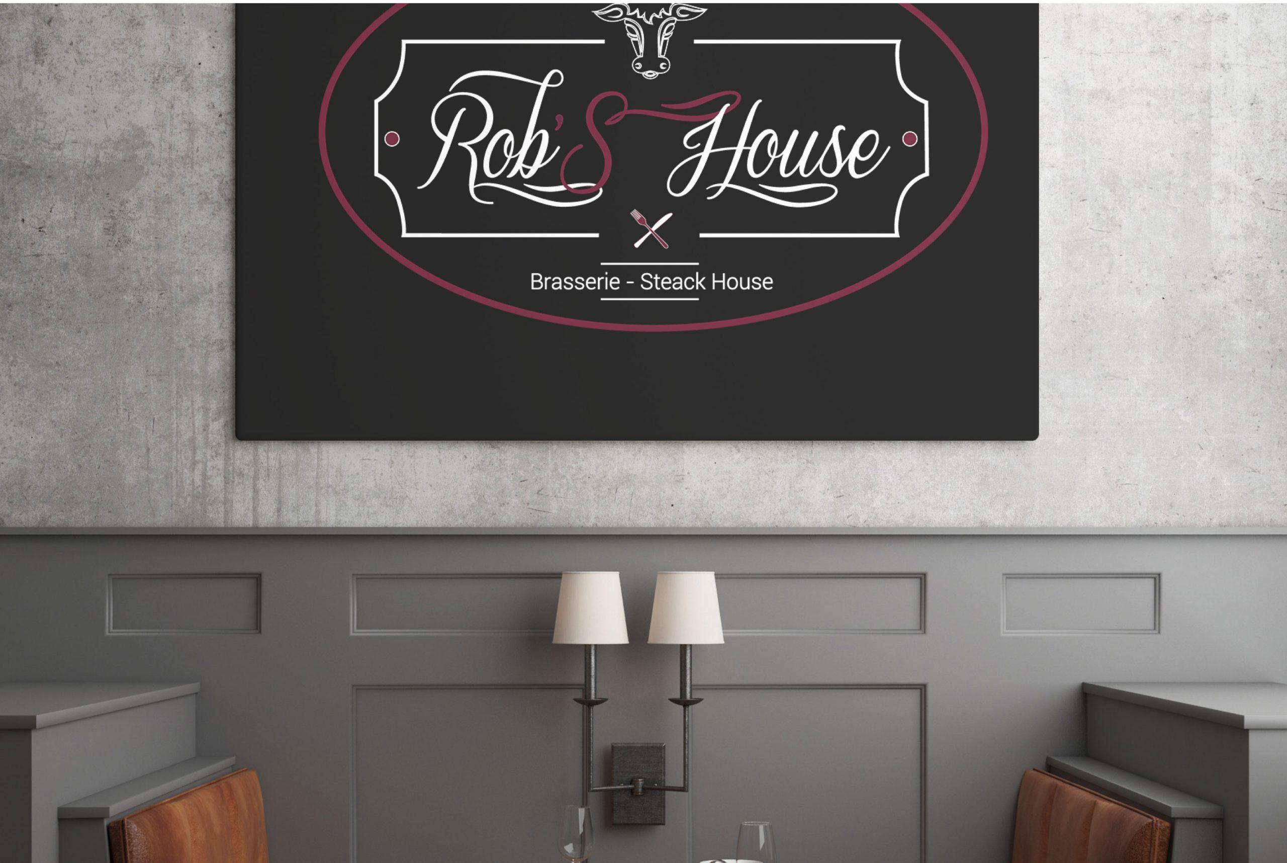 création de pancarte de restaurant
