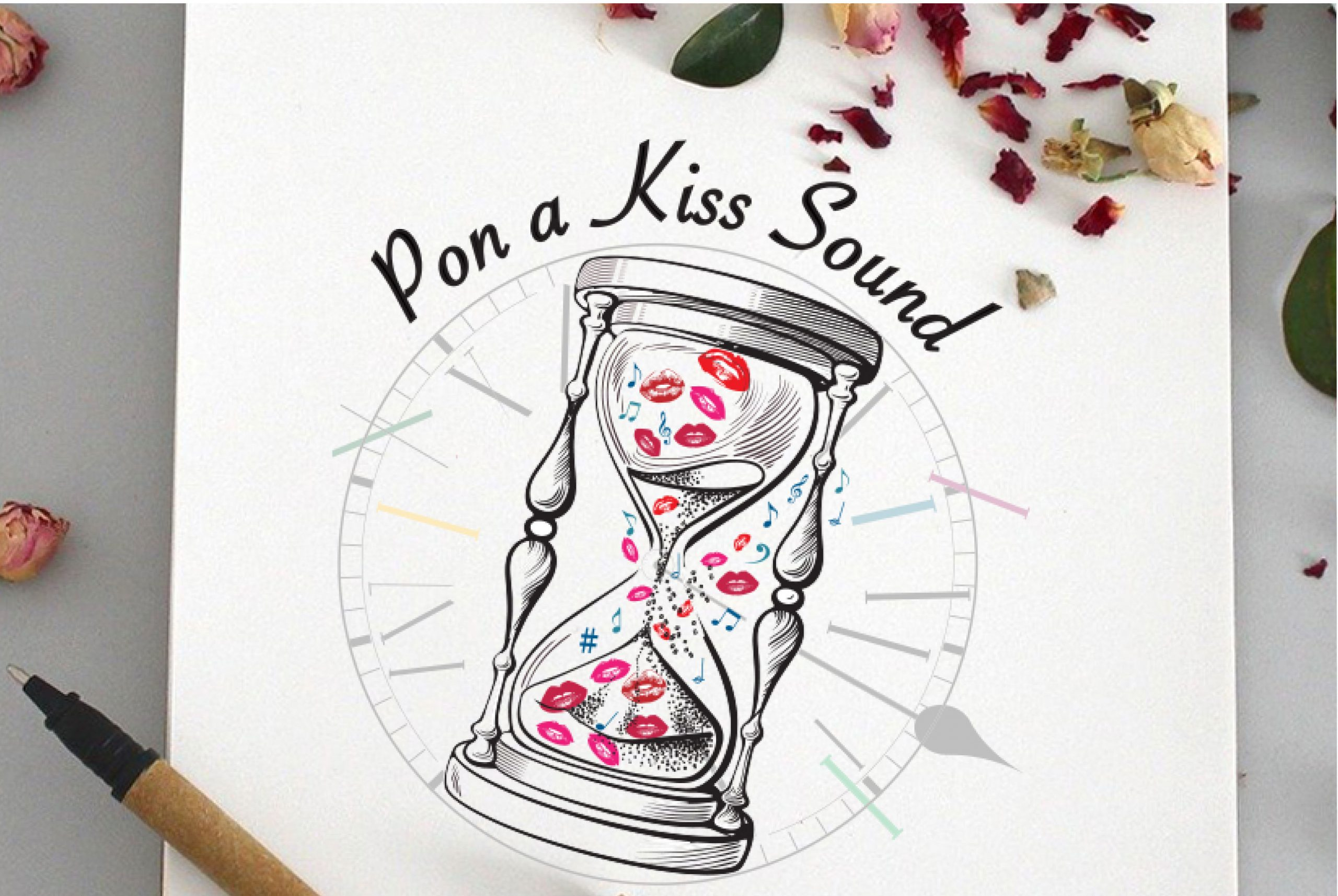 création du logo Pon a Kiss sound