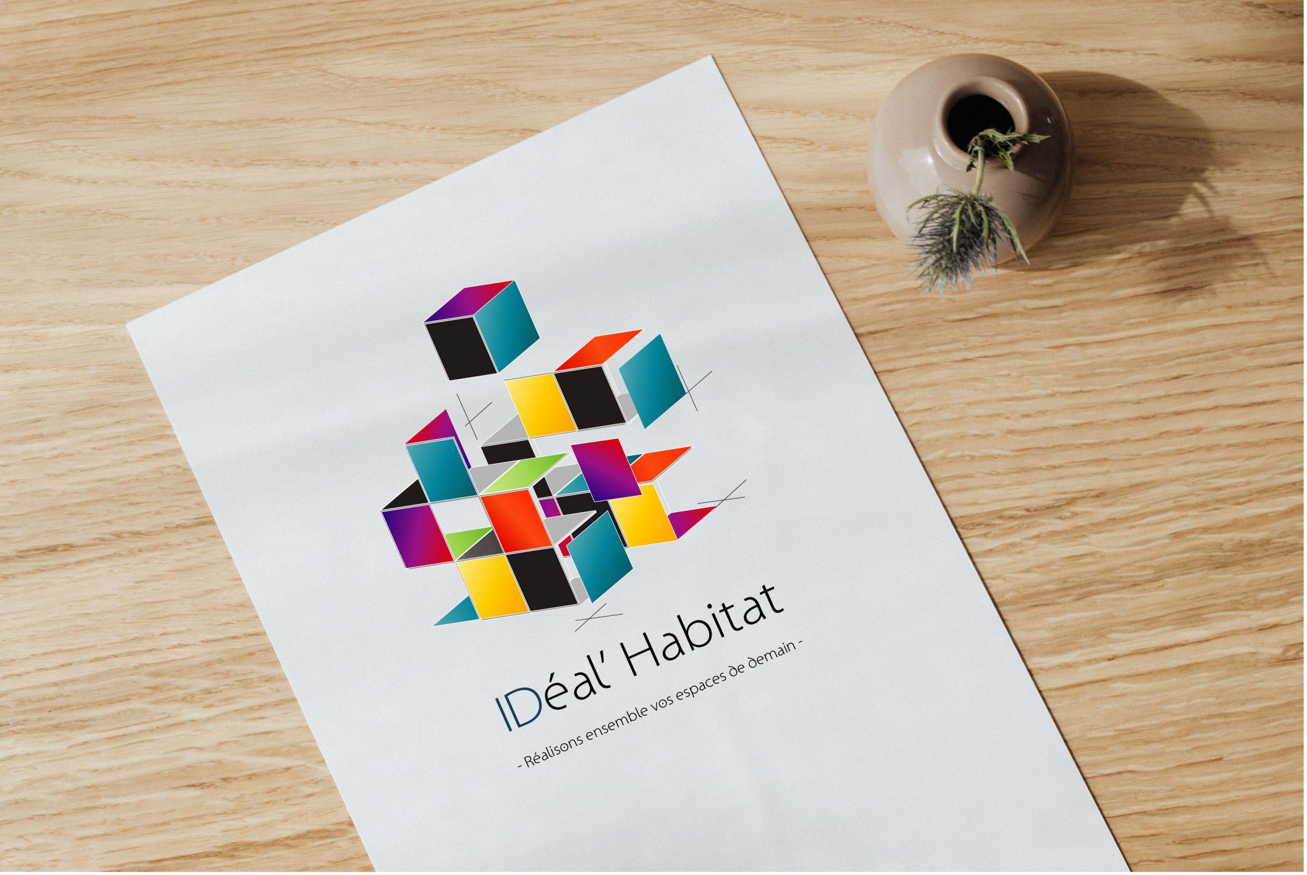 création du logo ideal habitat