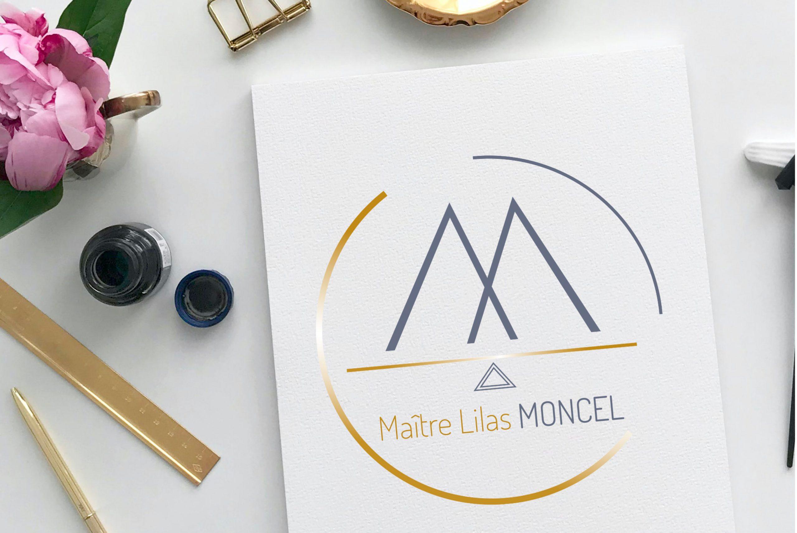 création de carte de visite Maitre Lilas Moncel par 7essentiels